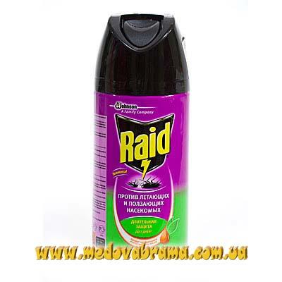 RAID Аэрозоль от летающих насекомых 300мл